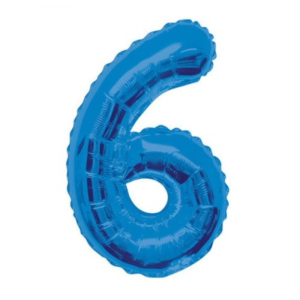 Цифра 6 Синяя (100см)