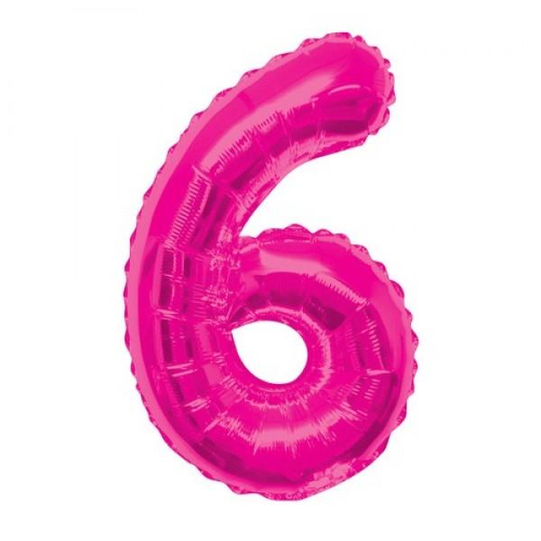 Цифра 6 Розовая (100см)