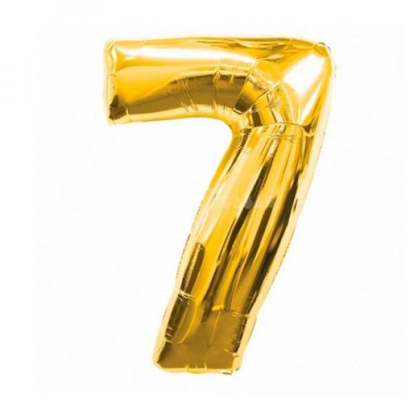 Цифра 7 Золото (100см)