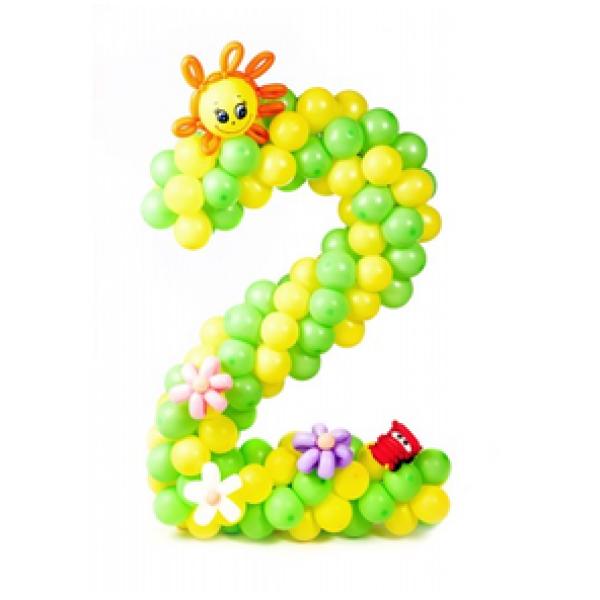 Цифра из воздушных шаров 2