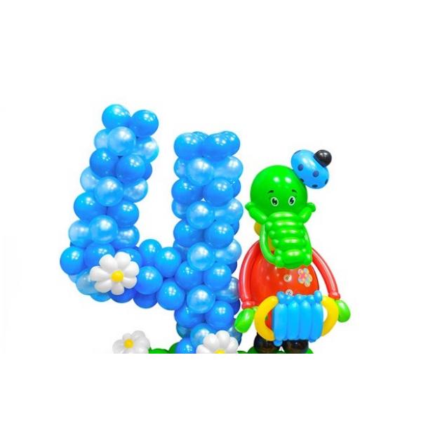 Цифра из воздушных шаров 4