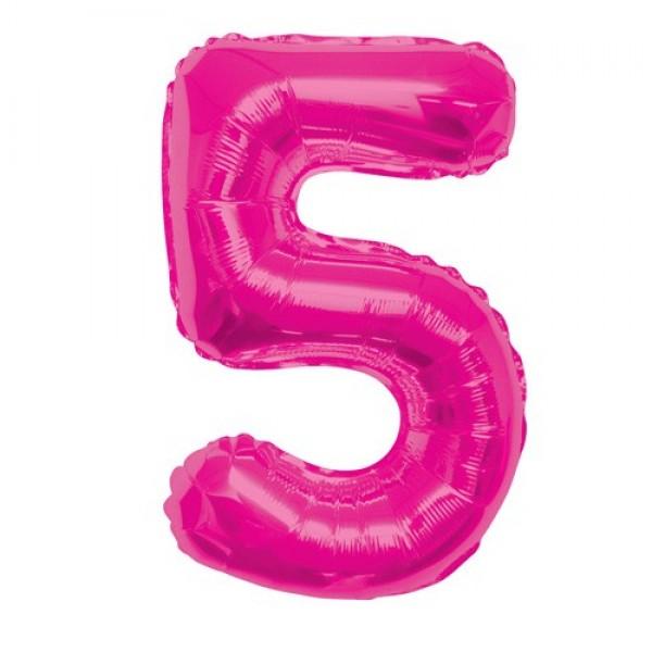 Цифра 5 Розовая (100см)
