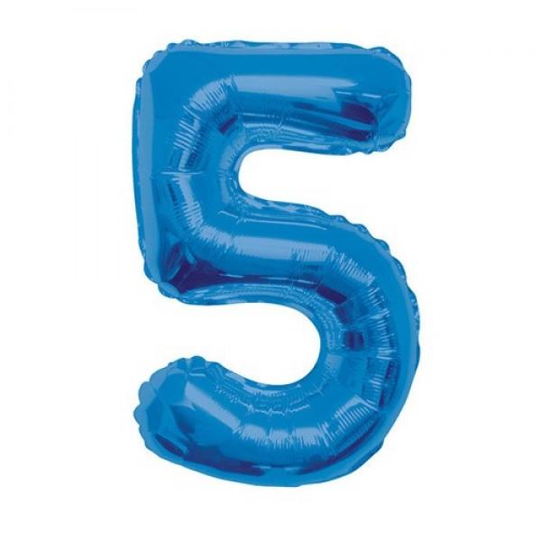 Цифра 5 Синяя (100см)