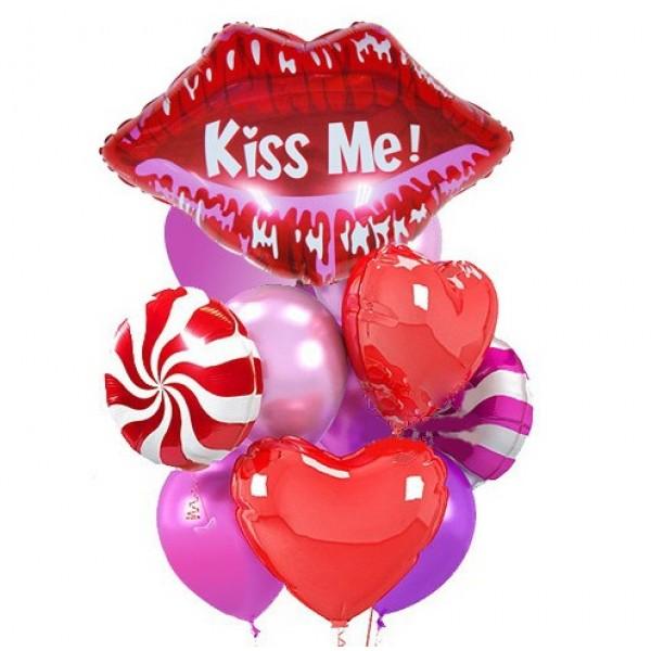Букет из воздушных шариков Kiss me