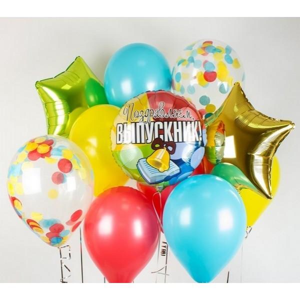 Букет из воздушных шариков Яркий выпускной