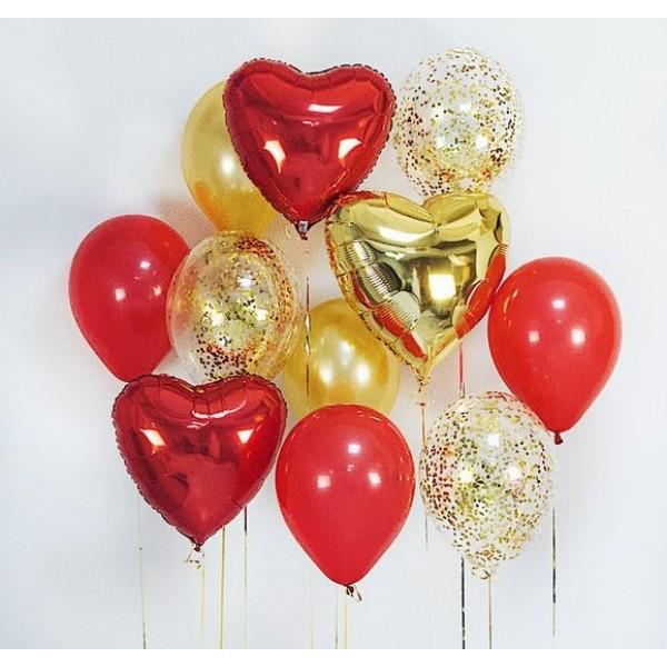 Букет из воздушных шариков Золотой