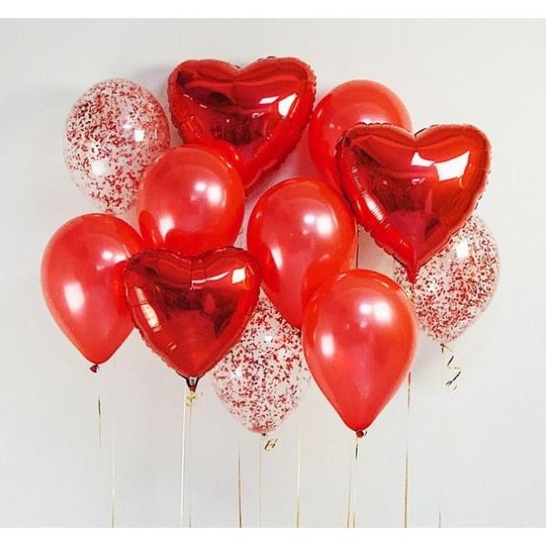 Букет из воздушных шариков Красный