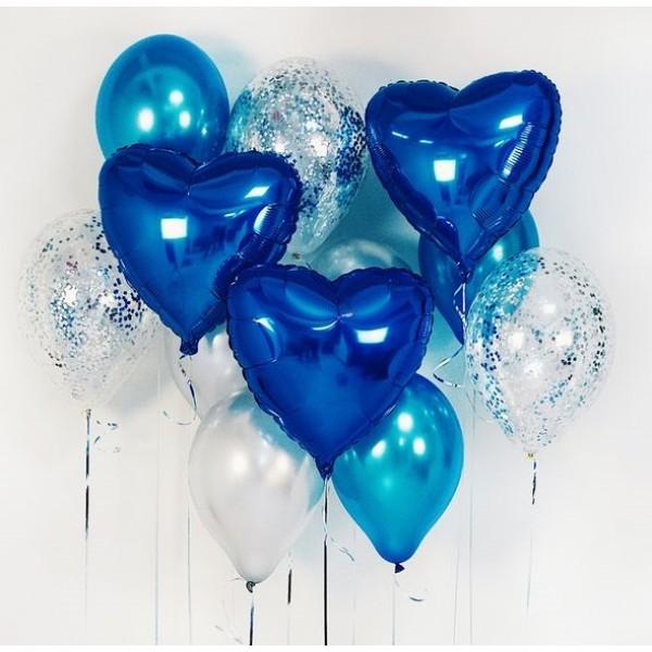 Букет из воздушных шариков Синий