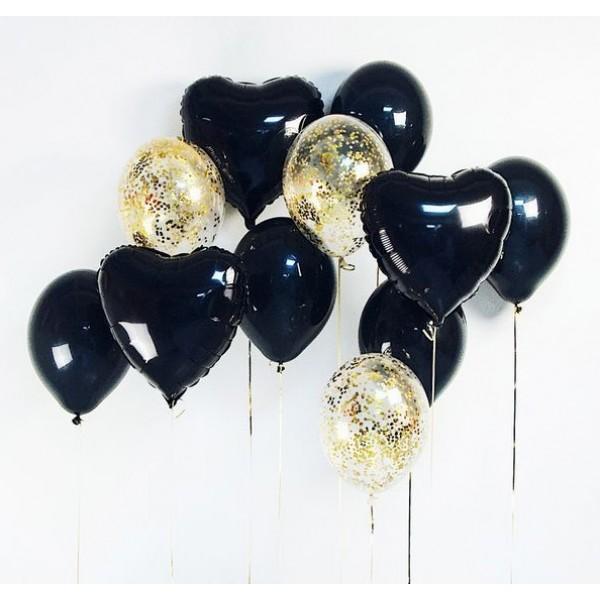 Букет из воздушных шариков Черный