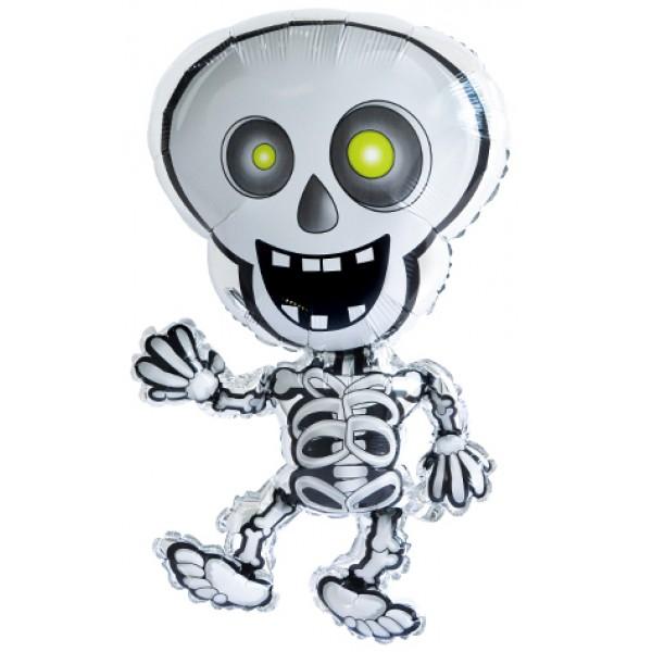 Шар фольгированная фигура Скелет ( 28/71 см )