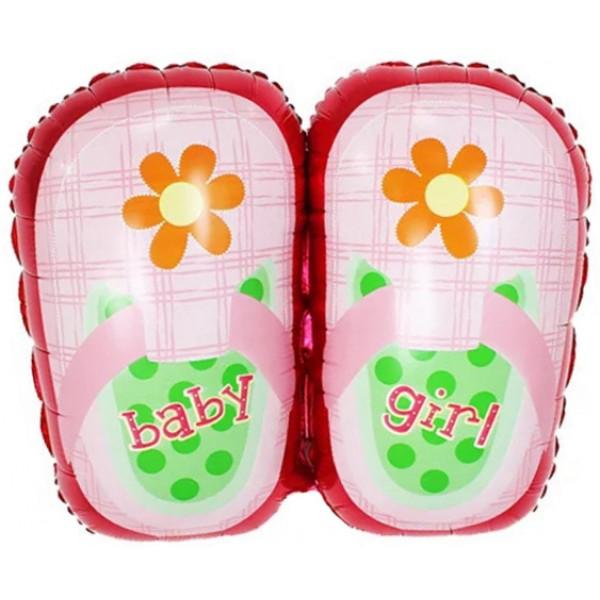 Шар фольгированная фигура Ботиночки для девочки