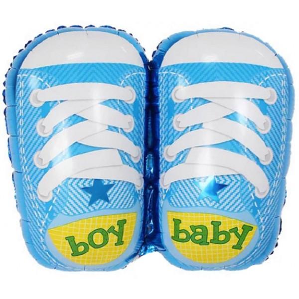 Шар фольгированная фигура Ботиночки для мальчика