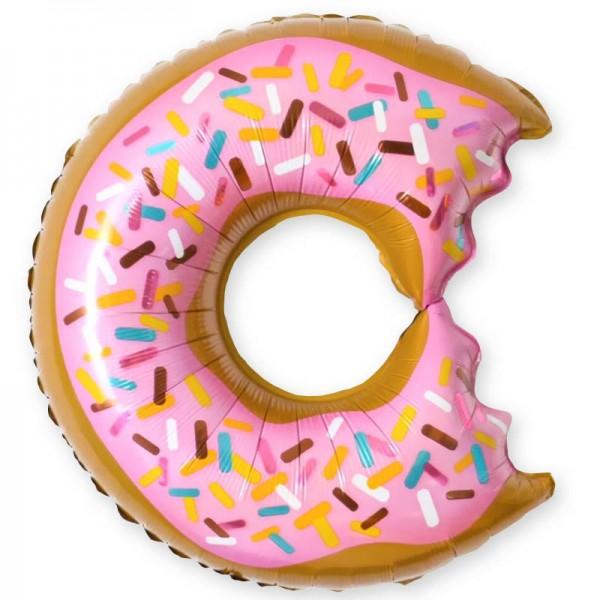 Шар фольгированная фигура Пончик надкусанный ( 26/66 см )