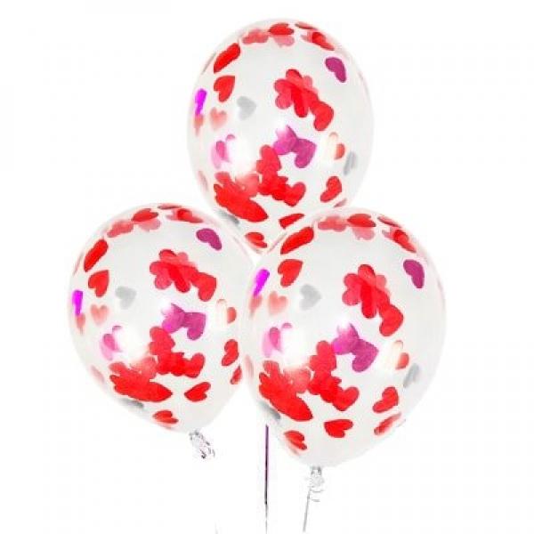 """Воздушные шарики с конфетти """" Любовь """""""