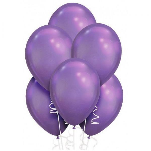 """Облако из воздушных шариков """" Хром.Фиолетовые"""""""