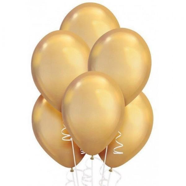 """Облако из воздушных шариков """" Хром. Золото """""""