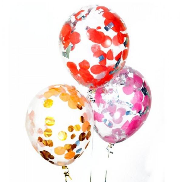"""Воздушные шарики с конфетти """" Ассорти """""""