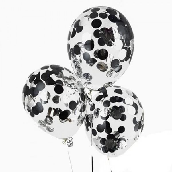 """Воздушные шарики с конфетти """" Строгий """""""