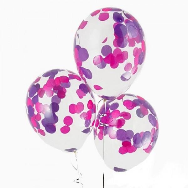 """Воздушные шарики с конфетти """" Вельвет """""""