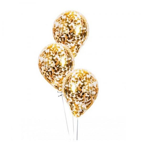 """Воздушные шарики с конфетти """"Золото """""""