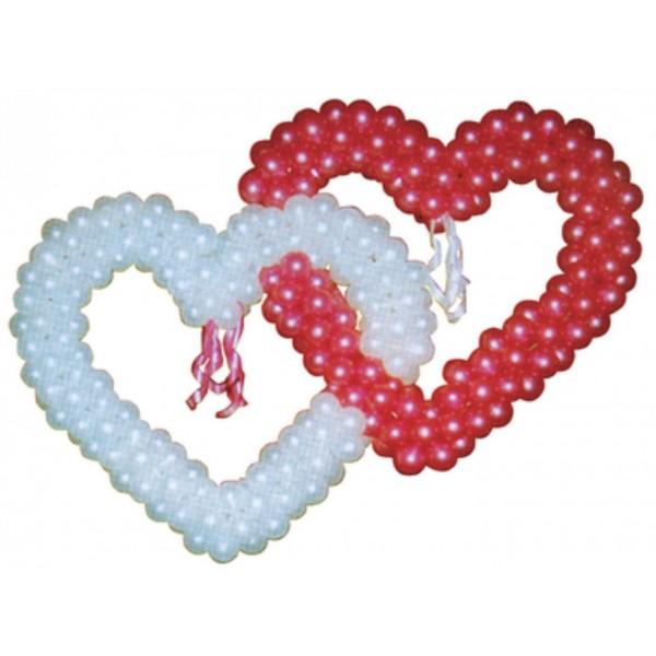 Фигура из воздушных шариков Два сердца вместе