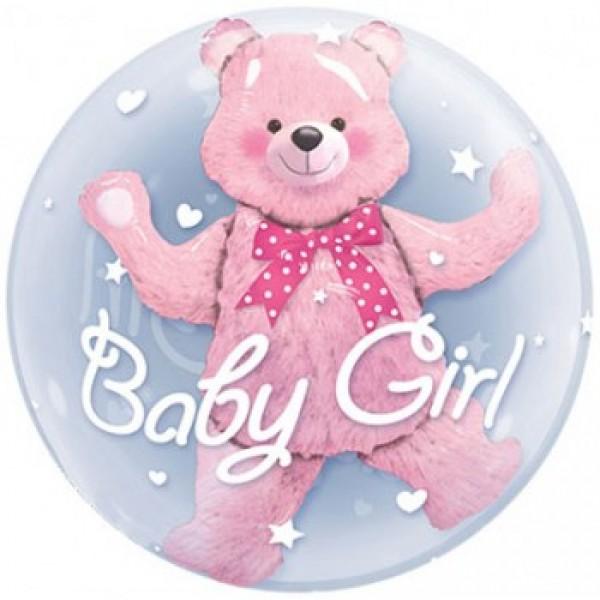 Шар фольгированный Медвежонок (Девочка)