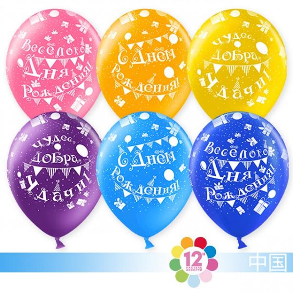 Воздушные шарики С Днем Рождения (пожелания)