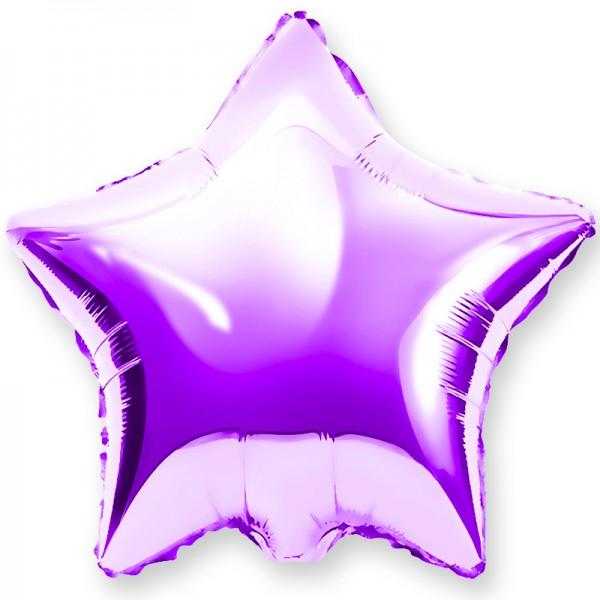 Шар фольгированный Звезда, Фиолетовый, (18/46 см) 1 шт.