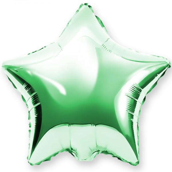 Шар фольгированный Звезда, Зеленый, (18/46 см) 1 шт.