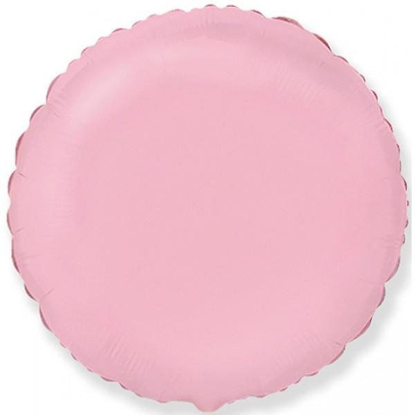 Шар фольгированный Круг, Розовый, (18/46 см) 1 шт.