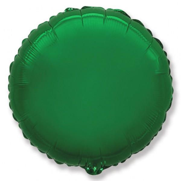 Шар фольгированный Круг, Зеленый, (18/46 см) 1 шт.
