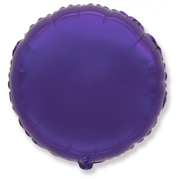 Шар фольгированный Круг, Фиолетовый, (18/46 см) 1 шт.