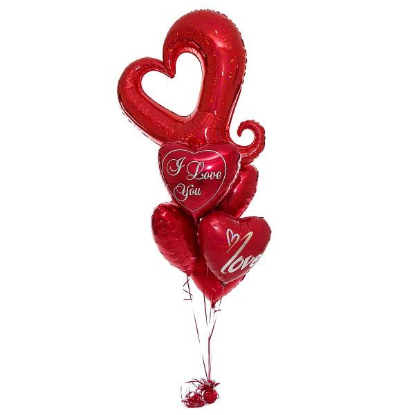 Фонтан из воздушных шариков Филигранная любовь