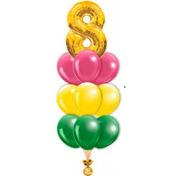 Фонтан из воздушных шариков Цифра