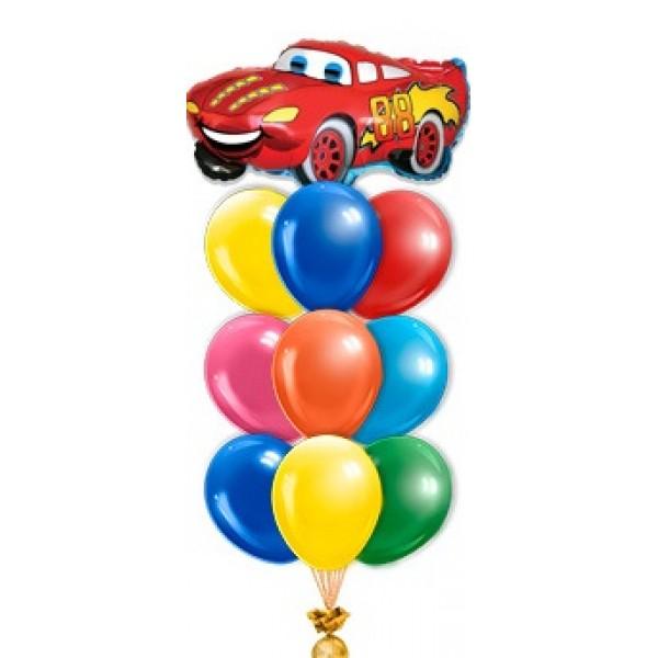 Фонтан из воздушных шариков Машина