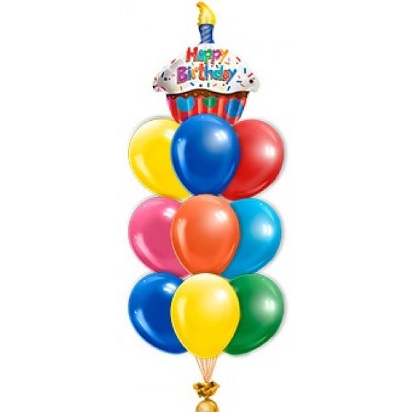 Фонтан из воздушных шариков Торт