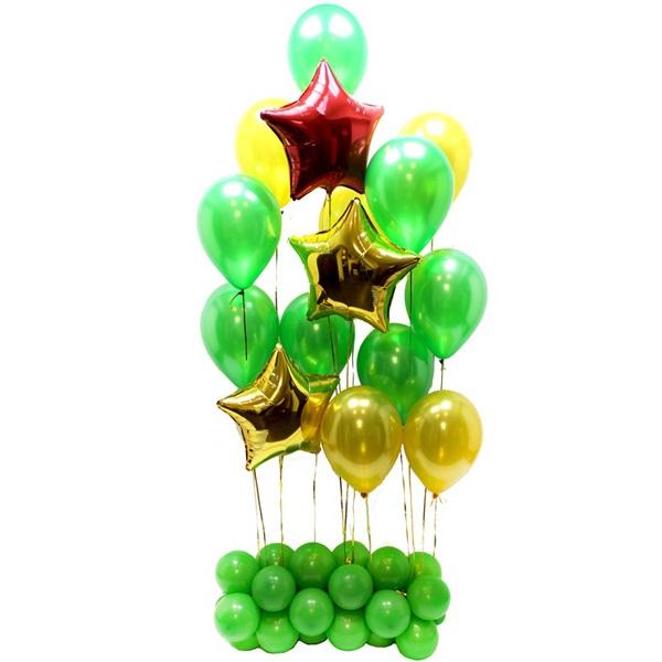 Стойка из воздушных шариков 23 Февраля