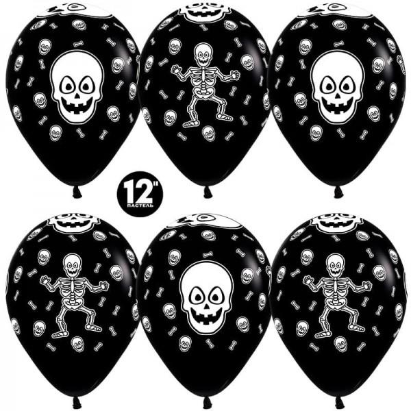 Воздушные шарики  Хэллоуин, Танцующий скелет (12''/30 см)