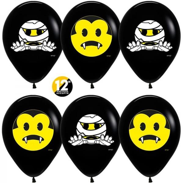 Воздушные шарики Хэллоуин, Emoji (12''/30 см)