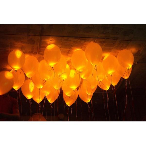 Светящиеся шарики, Хэллоуин, Оранж  ( 12/30 см )