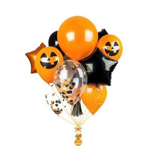 Букет из воздушных шариков Хэллоуин, Тыквы