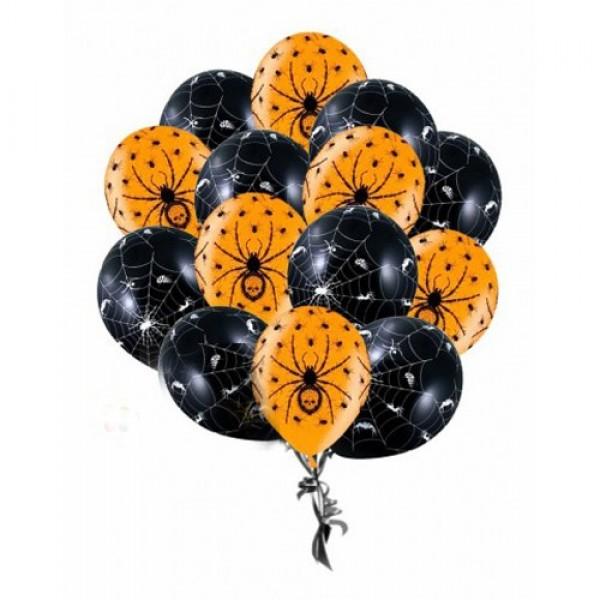 Облако из воздушных шариков Хэллоуин, Пауки
