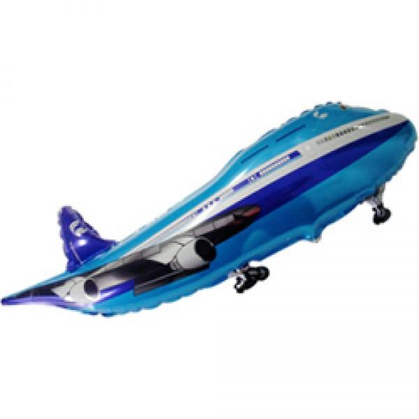 Шар фольгированная фигура Самолет ( 39/99 см )