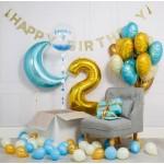 Композиция из воздушных шариков Для малыша с месяцем