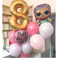 Композиция из воздушных шариков Кукла LOL № 15