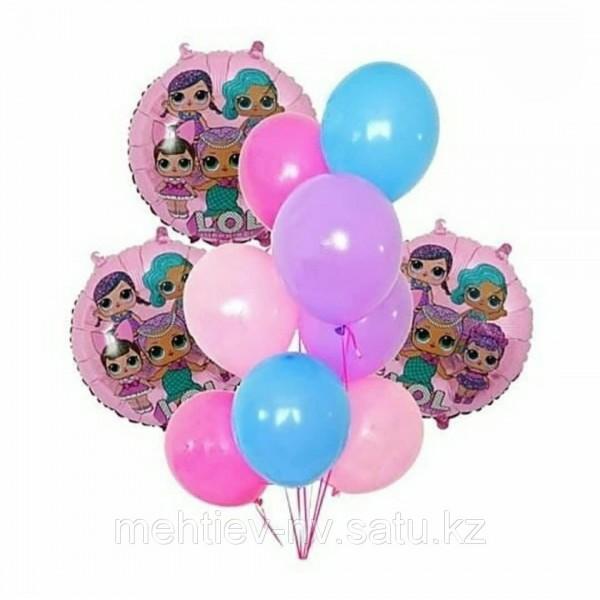 Композиция из воздушных шариков Кукла LOL № 10