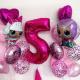 Композиция из воздушных шариков Кукла LOL № 17