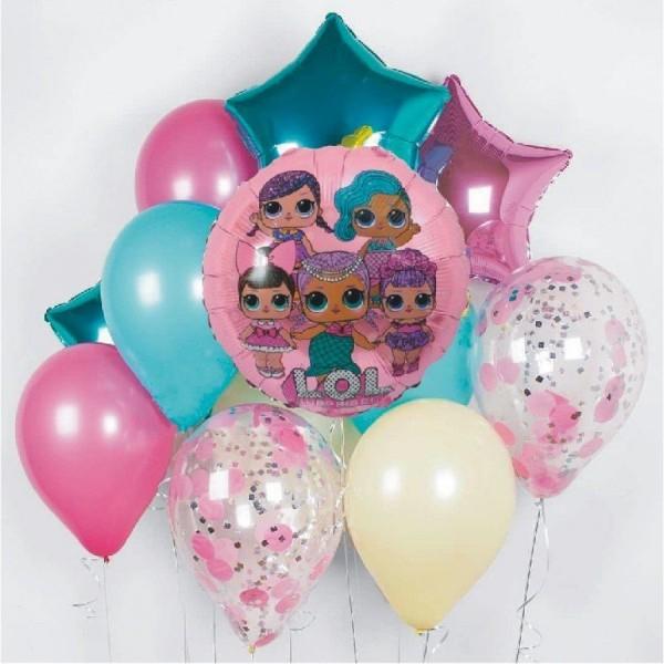 Композиция из воздушных шариков Кукла LOL № 11