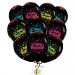 Облако из воздушных шариков С Днем Рождения