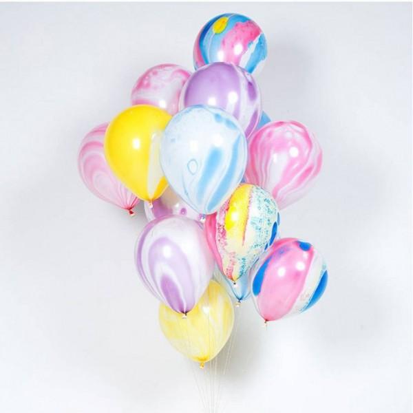 Облако из воздушных шариков  Мрамор.  Ассорти